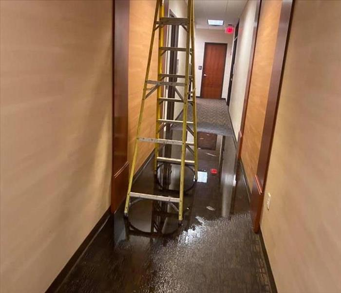 Before SERVPRO commercial water damage restoration