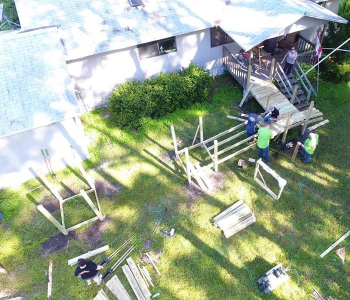 Drone photo of the wheel chair ramp build in St. Augustine.