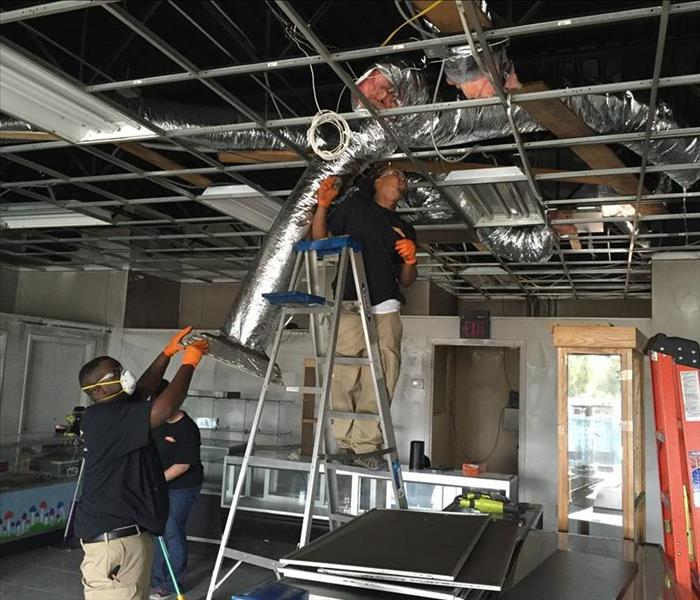 Smoke Damage Restoration by SERVPRO' St. Augustine location.