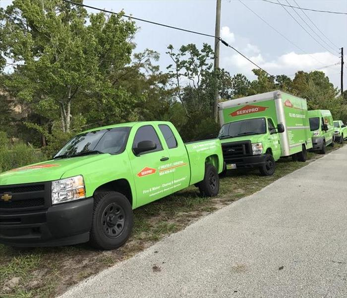 SERVPRO's St. Augustine logistics dwarf the competition.