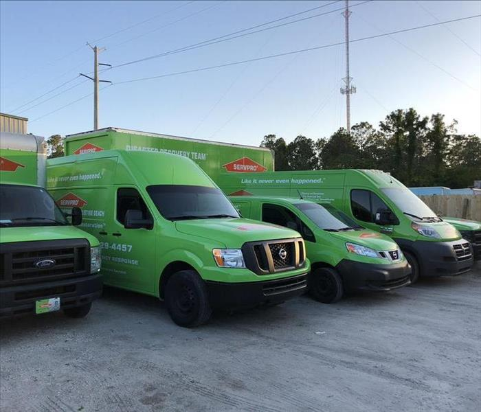 SERVPRO is ready for dispatch at a moment's notice in St. Johns County.