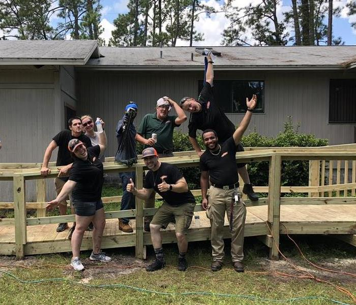 Funny Group photo from SERVPRO of Greater St Augustine's volunteering project