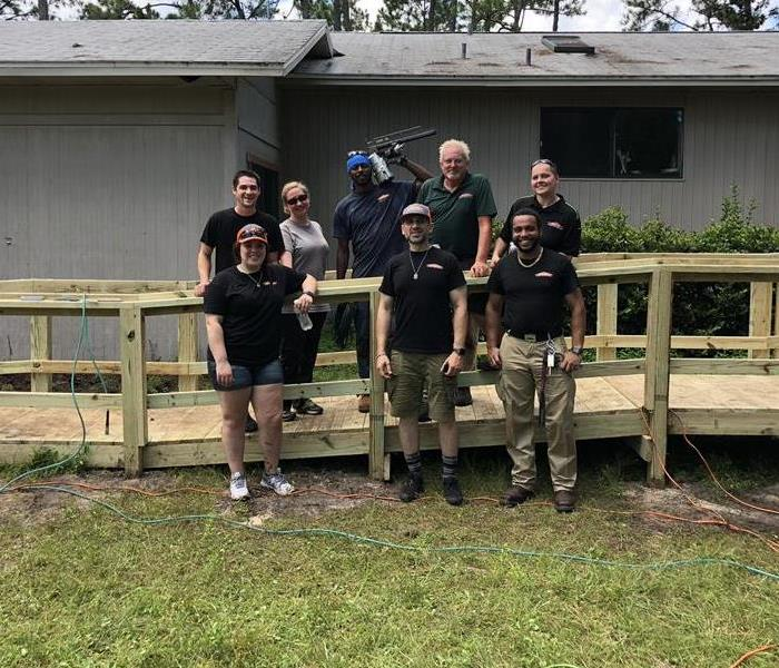 Community Volunteering Event by SERVPRO's St Augustine location