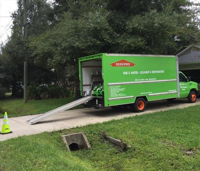 Water Damage SERVPRO of Greater St Augustine out on a water job!