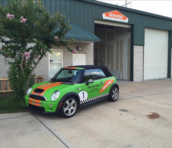 General Mini Cooper looks better in SERVPRO green!