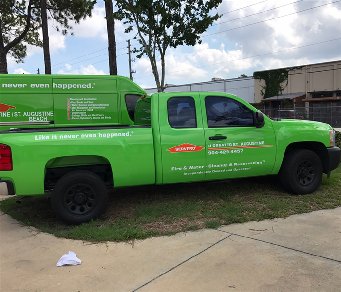 Commercial SERVPRO of Greater St. Augustine is faster to any size disaster!