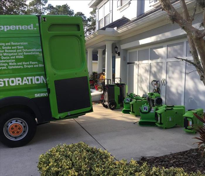 Water Damage Water Damage Last day - Super Bowl Day Project by SERVPRO in St. Augustine.